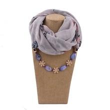 DANIELS New 2019 Charm Natural Stone Gemstone Daisy Flower Pendant Scarf Rhinestones Tassels Jewelry Scarves Free Shipping