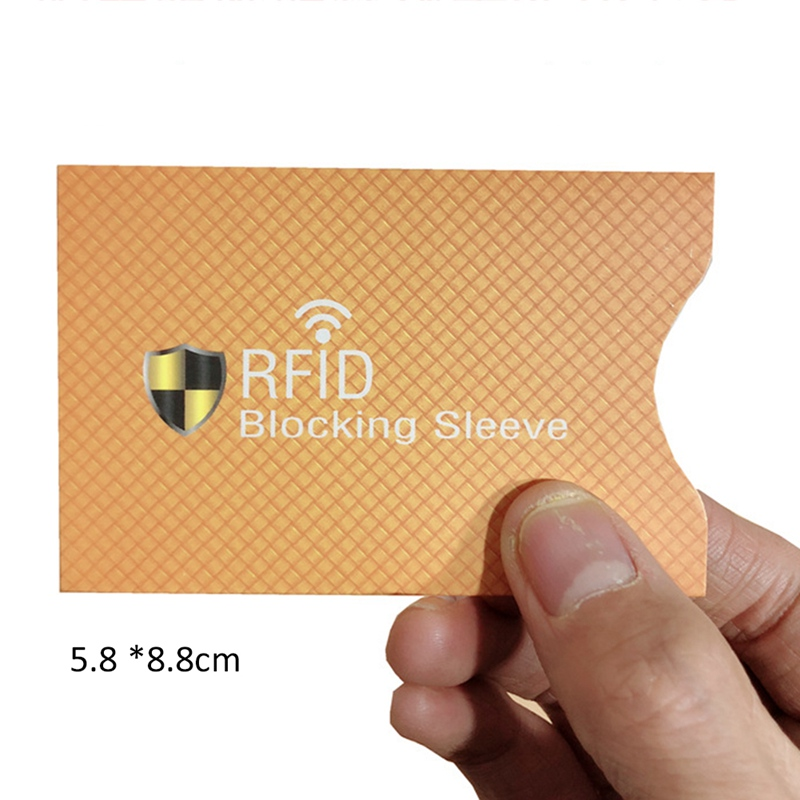 5Pcs Aluminum Foil Portable Anti-Scan Credit RFID Card Protective Anti-Magnetic Holder Bag ID Band Card Protector