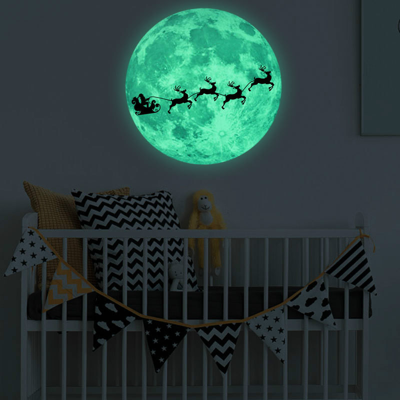 Glowing Witch Elk Earth Moon Wall Stickers Luminous Star Bedroom Glow In The Dark Stars New Year Merry Christmas Decorations Buy At The Price Of 4 96 In Aliexpress Com Imall Com