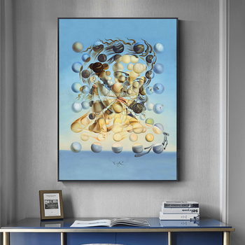 Famous Painting Salvador Dali Galatea Spheres Oil Painting Canvas Painting Wall Art for Living Room Home Decor (No Frame) 1