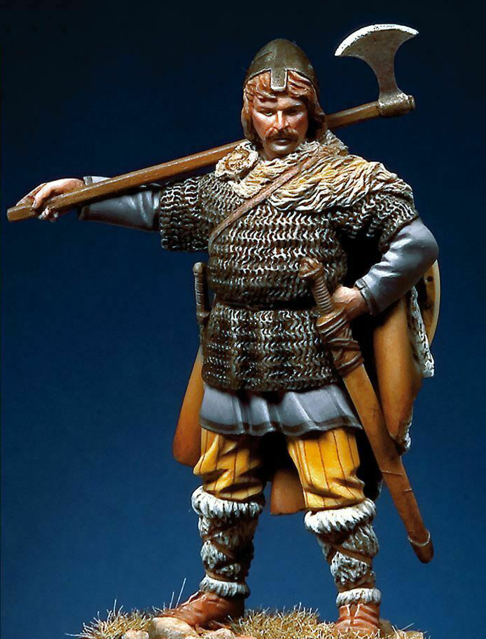 1/32 54mm   Ancient Viking Warrior Stand 54mm (with Base  )  Resin Figure Model Kits Miniature Gk Unassembly Unpainted