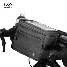 цена на WOSAWE New Bicycle Front Handlebar Bag Camera bag Bag Big Capacity Handlebar Front Tube Bag Pocket Shoulder Backpack  Rain cover