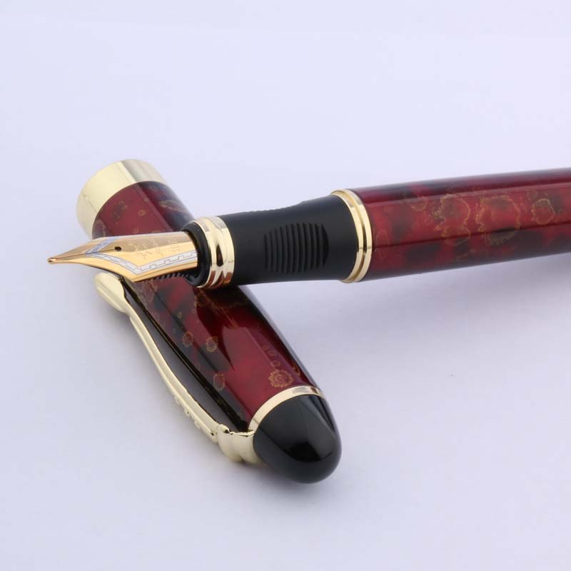 Transparent Red New Jinhao Swan Series Extra Fine Fountain Pen
