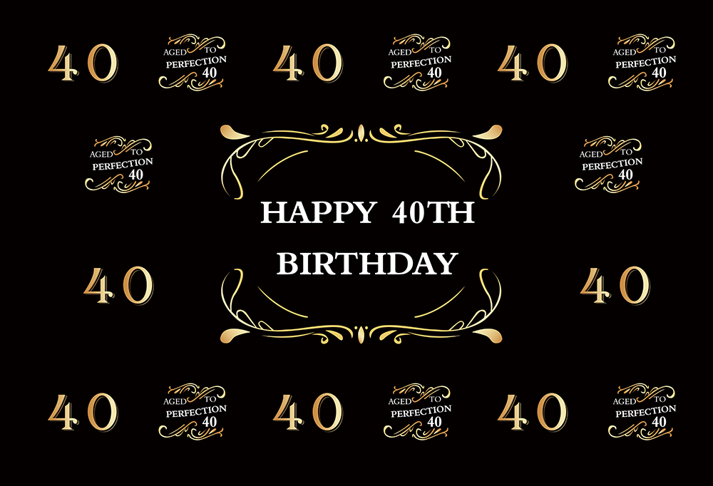 HUAYI Happy <font><b>40th</b></font> 50th <font><b>Birthday</b></font> Party <font><b>Backdrop</b></font> Hollywood Prom Photo Booth Backgrounds For Women <font><b>Birthday</b></font> Celebration image