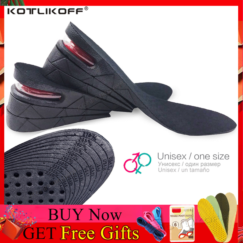 Hot Air Cushion Heel Insert Increase Taller Height Lift Shoe Insoles 5cm Unisex