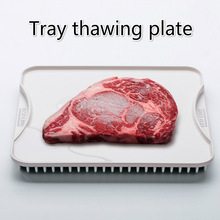 Japan Imported Aluminium Alloy Fast Defrosting Tray Thaw Food Meat Fruit Quick Defrosting Plate Board Defrost Tray Kitchen Tools