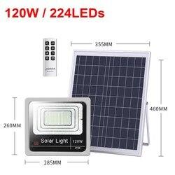 4pcs Ha Condotto Il Riflettore Proiettore Lampada 40W 60W 80W 100W 120W Ha Condotto La Luce di Inondazione Impermeabile lampada solare Da Giardino applique da Parete