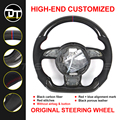 Steering Wheel For au-di A3 A4 A5 A6 A7 S3 S4 S5 S6 S7 RS S-line hand made Carbon fiber shift paddles Replacement