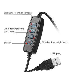 Image 5 - 9ซม./16ซม.LED Lightชุดหรี่แสงได้3200K 5500K Annular Make Upโคมไฟและขาตั้งกล้องสำหรับสตูดิโอถ่ายภาพแสง