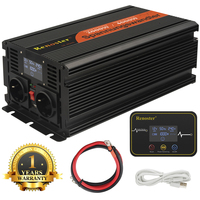 2000/4000W wireless Inverter Charger Converter LED Transformer Modified Sine Wave Inverter 12V to 220V with control display car