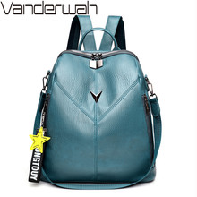 Fashion Anti-theft Backpacks For Women 2020 PU Leather Shoulder Bag Large Capacity School Bags for Teenage Girls Travel Backpack