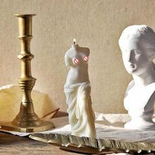 3D Broken Head Goddess Art Candle Mold Broken Arm Venus Shape Handmade Candle Making Silicone Molds