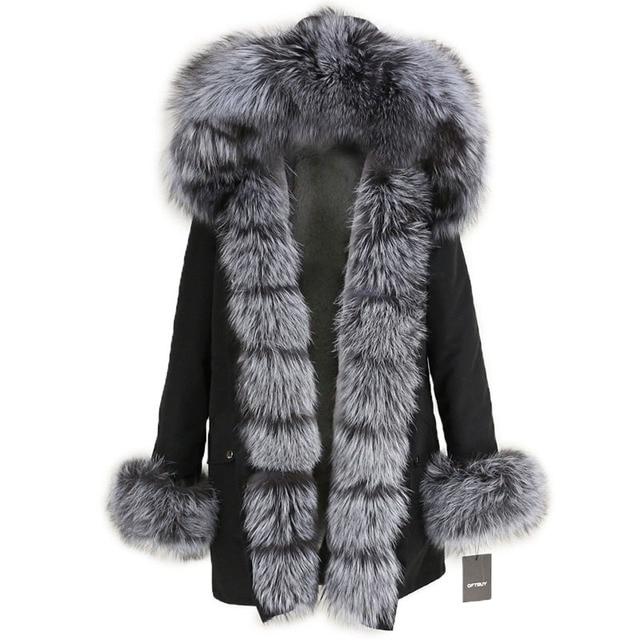 OFTBUY Waterproof Long Parka Winter Jacket Women Real Fur Coat Natural Fox Fur Collar Hood Thick Warm Streetwear Detachable New 6