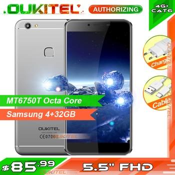 "OUKITEL U15S 5.5"" IPS FHD 4GB 32GB Smartphone MTK6750T Octa Core Press Fingerprint Sensor Android 6.0 Mobile Phone 2450mAh"