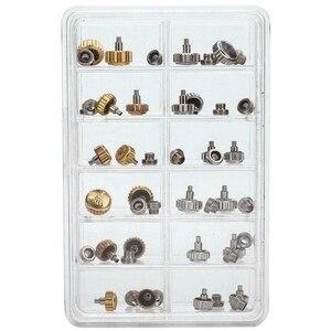 40 шт часы коронки для ремонта часов водонепроницаемые Замена Ассорти Инструменты для ремонта с коробкой