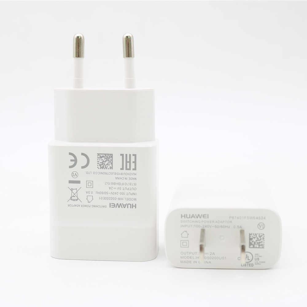 الأصلي هواوي USB الولايات المتحدة الاتحاد الأوروبي شاحن 5 V/2A محول 1M المصغّر USB كابل علامة هواوي P7 P8 P9 لايت 6 7 زائد الشرف 7/7X/6/6A/6X/5A/5C