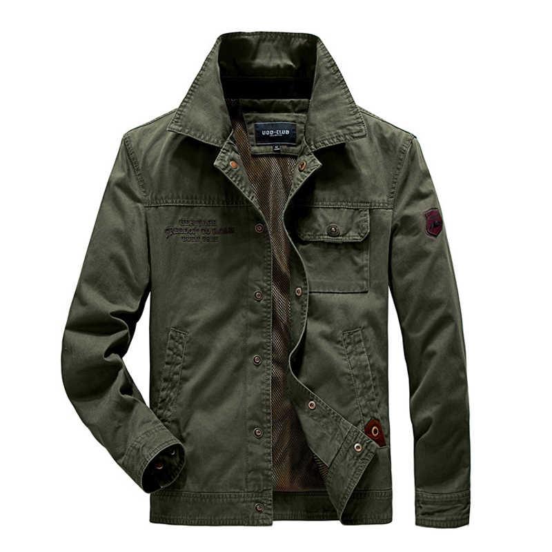 2019 Casual erkek sonbahar ceket marka kaliteli ordu askeri taktik ceket motosiklet bombacı ceket erkekler ceket artı boyutu 4XL