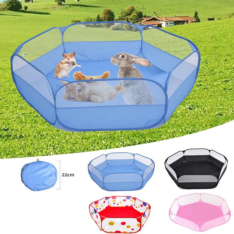 Pet складной детский манеж Портативный открытые малая клетка для животных палатка игровая ограждение для игровой площадки для хомяк Шиншилл...