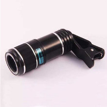 12X Universal Zoom Optical Replacement Portable Accessories Clip On Removable Plastic Mobile Phone Lens(China)
