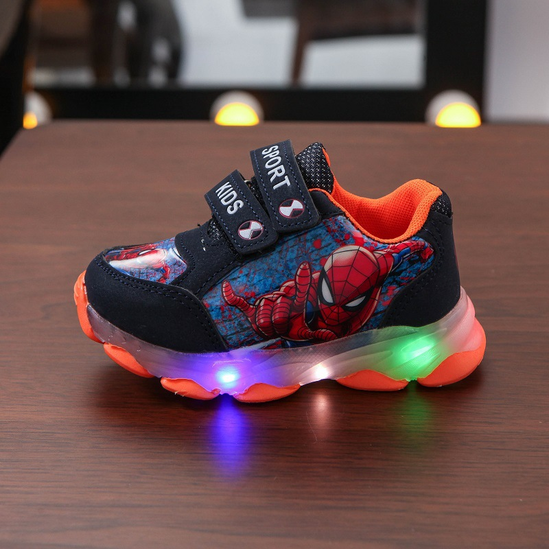 Fashion Lovely Hello Kitty Baby Casual Shoes Toddlers Cute Baby Girls Sneakers LED Lighted Baby Infant Tennis Sneakers