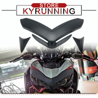 Motorcycle Front Fairing Aerodynamic Winglets Wing Tip Plastic Cover With LOGO Protective Cover For Z900 Z 900 2017-2020