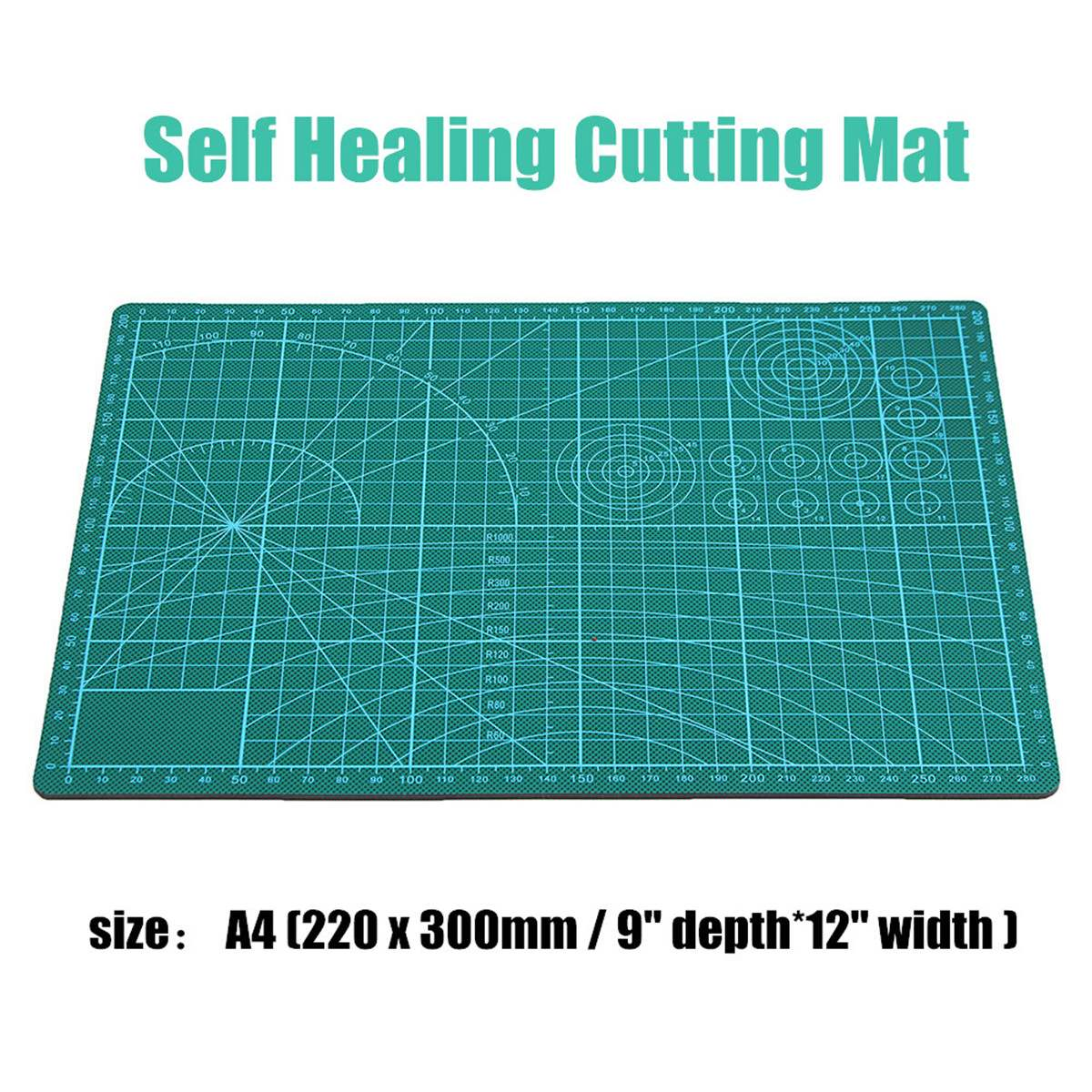 A2/A3/A4 Grid Lines Cutting Craft Mat Board Self Healing Non Slip Printed Scale Plate Knife Quality Cutting