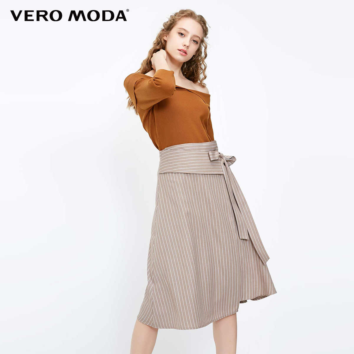 Vero Moda 2019 New Arrivals Gestreepte Lace-up Mid Taille Rok | 318316549