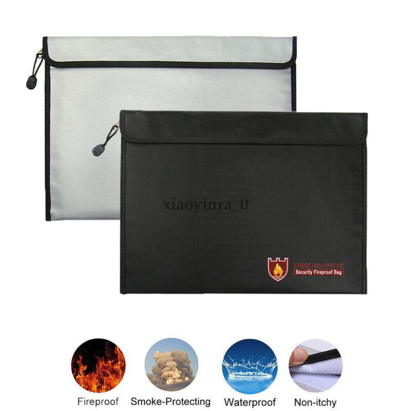 Fireproof Water Resistant Money Bag Envelope Safe Document Bag File Pouch Case