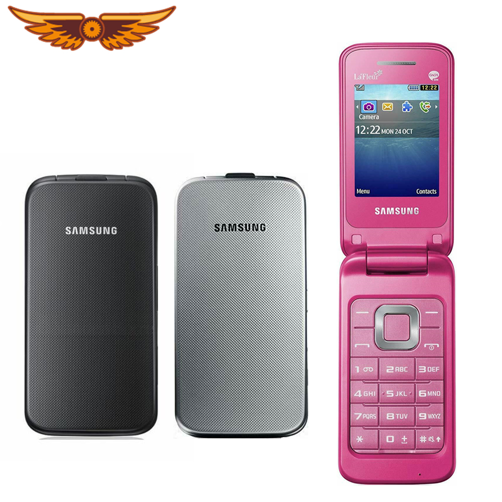 Asli Samsung C3520 Dibuka 2 4 Inch Keyboard Bahasa Inggris Hanya 3g Wcdma 1 3mp Flip Handphone Diperbaharui Ponsel Refurbished Cellphones Flip Phonesamsung C3520 Aliexpress