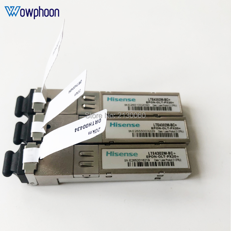 8Pcs Free Shipping Hisense SFP Module LTE4302M-BC+ EPON-OLT-PX20+ For Huawei And ZTE EPON OLT