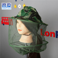 Outdoor Camping Travel Anti Mosquito Pullover Mosquito Nets Cap Fishing Gear Mosquito Net Outdoor Travel Supplies|Floodlights| |  -