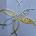 4 цвета символ рыбы автомобильный Стайлинг 3D Abs наклейка для любви универсальная эмблема значок наклейка христианский грузовик декоративна...