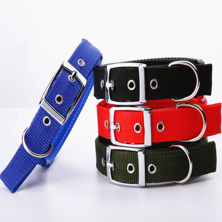[Hao Slightly Cute Pet] Zinc Alloy Buckle Pet Collar Soft Leather PET Foam Dog Collar Bandana