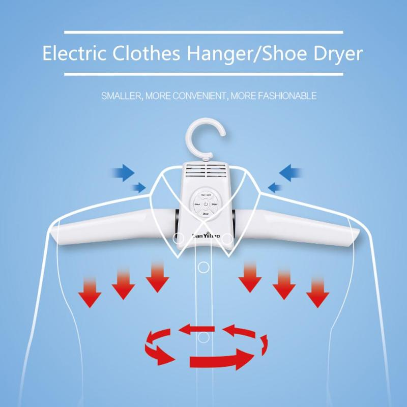 Portable Folding Fast Drying Coat Hanger Smart Electric Clothes Shoes ABS Multi-function Dual-mode Switching Timeable Dryer Rack