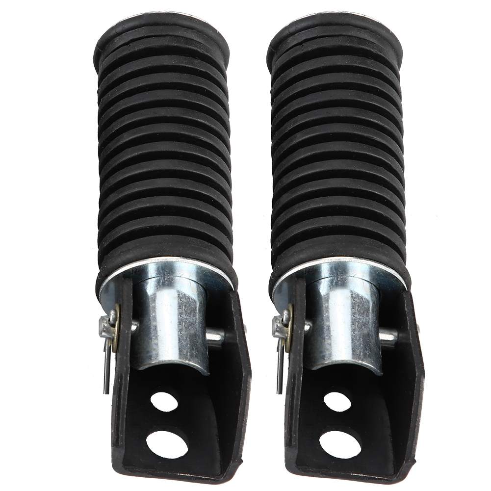 Pair Of Motorcycle Aluminum Alloy Anti-slip Rear Passenger Foot Pegs Pedal Footrest For Suzuki GN125/QJ25/GS125/GT125-5