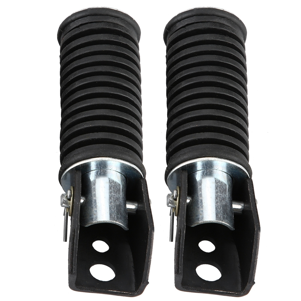 Rear Passenger Pedal Footrest for Suzuki GN125//QJ25//GS125//GT125-5 Pair of Motorcycle Foot Pegs Anti-corrosion Anti-Slip long service life
