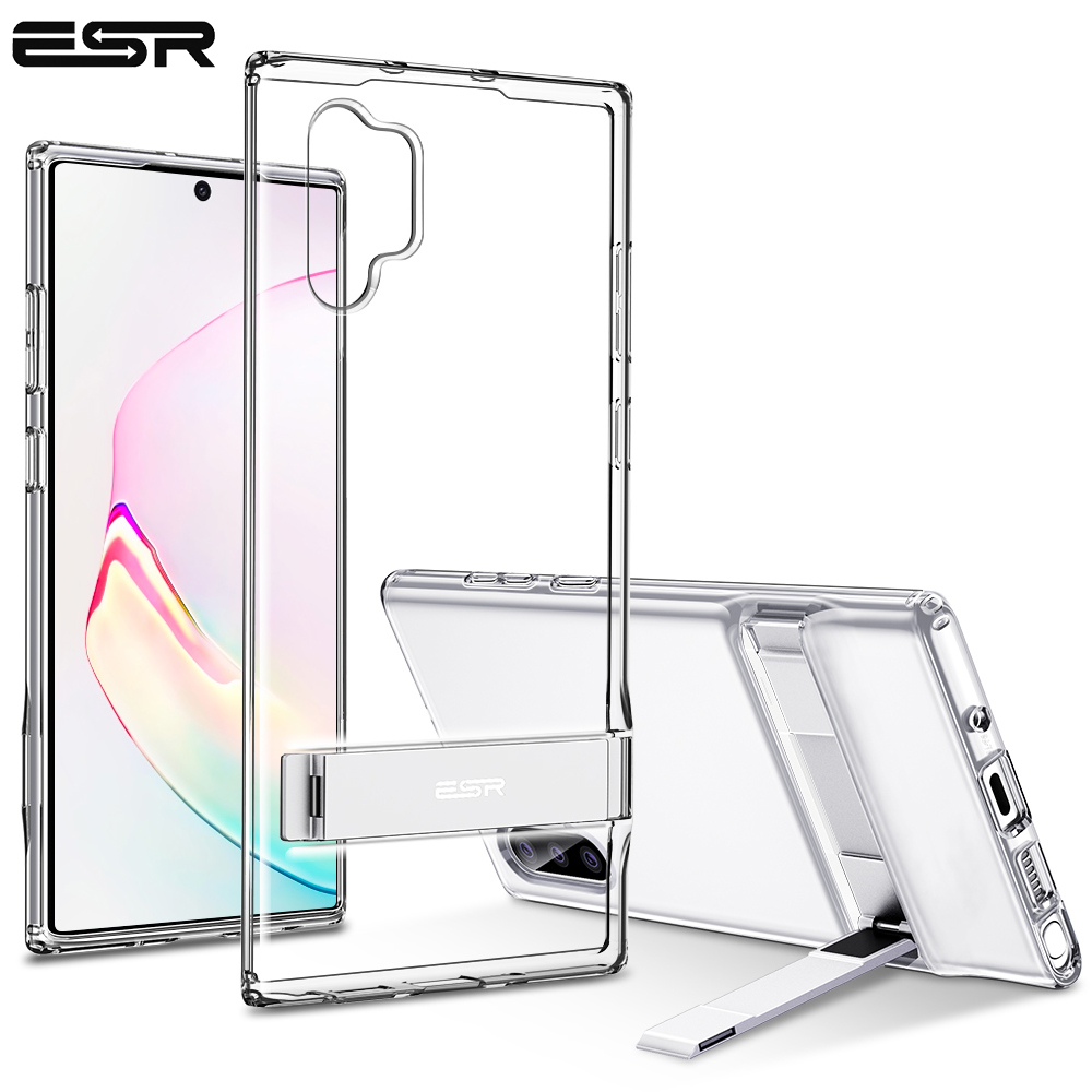 ESR Business Phone Case For Samsung Galaxy Note 10 With Metal Kickstand Shockproof TPU Cover For Samsung Note 10 Plus 5G Capas
