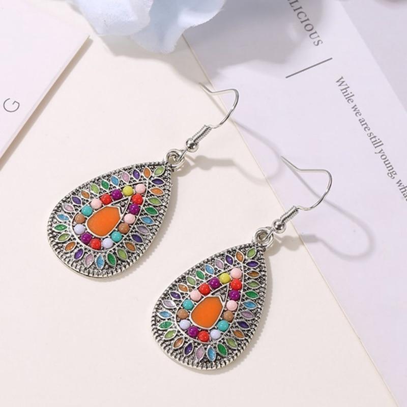 Vintage Ethnic Dangle Drop Earrings Women Female Party Wedding Jewelry Ornaments Accessories