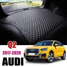 Cuir Tapis De Coffre De Voiture Pour Audi Q2 Q2L 2017 2018 2019 2020 2021 Coffre Tapis de Doublure De Fret Pad Tapis Queue Cargo Doublure Sline