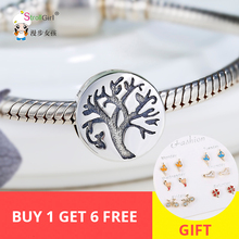 StrollGirl 925 sterling silver Beads Tree of life Charms Can DIY Bracelet Mean Tenacious Growing up Jewelry Gift For Graduation