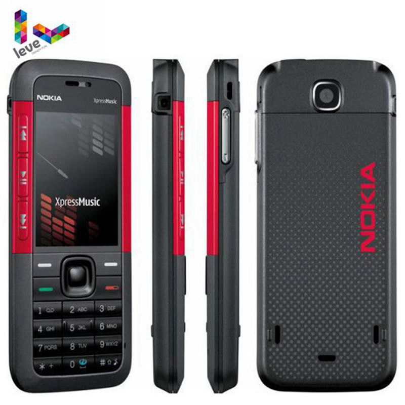 <font><b>Nokia</b></font> <font><b>5310</b></font> XpressMusic 5310XM Bluetooth Java MP3 Player Original Unlocked Refurbished Mobile Phone image