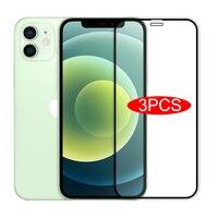3Pcs Volle Abdeckung Gehärtetem Glas Auf Für iPhone 11 12 Pro Max Screen Protector Für iPhone 11 X XR XS MAX 12 Mini Schutz Glas