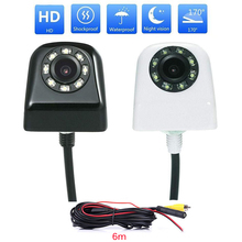170 Degree Wide Angle Car Rear View Camera Set Auto Reverse Camera With 8 LED Light CCD Image Sensor Parking Cameras With Cable