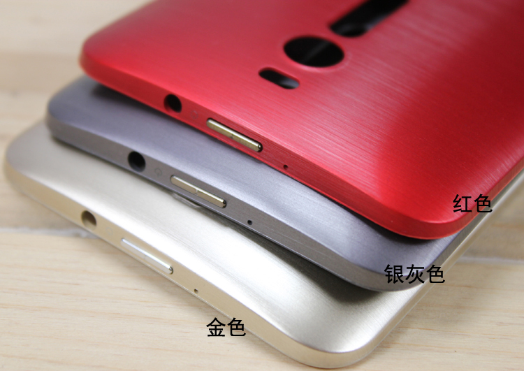Original Phone Cases For ASUS Zenfone 2 ZE551ML ZE550ML Z00A Z00AD Z00ADB Gold Battery Cover Housing Rear Door Lid With Button
