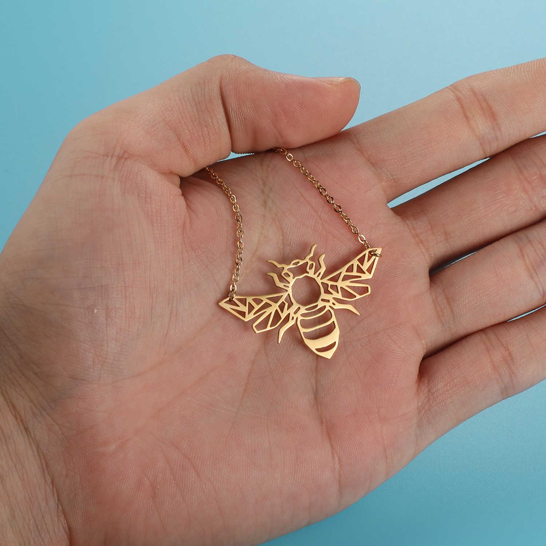 สัตว์ที่ไม่ซ้ำกัน Bee สร้อยคอ LaVixMia อิตาลีออกแบบสแตนเลส 100% สร้อยคอผู้หญิง Super แฟชั่นเครื่องประดับของขวัญพิเศษ
