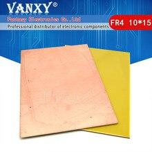 Placa revestida de cobre de un solo lado, PCB, Kit de PCB, placa de circuito laminado, 10x15cm, 1 Uds.