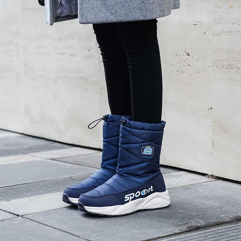 MORAZORA boyutu 41 2020 yeni varış tutmak sıcak kar botları kadın pamuklu ayakkabılar kalın kürk platformu çizmeler kadın orta buzağı kışlık botlar