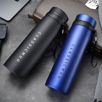 650ml/1100ml/1500ml Large Capacity Thermos Mug With Filter Stainless Steel Sports Insulated Vacuum Flask Portable Tumbler Bottle фото
