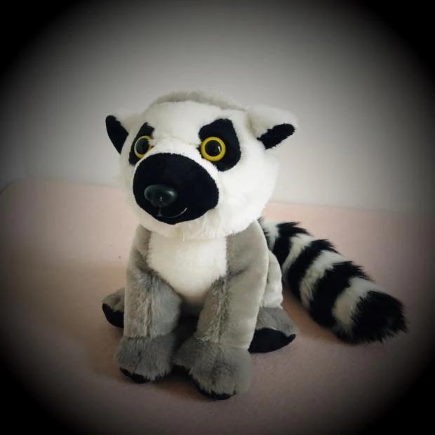 Ring-tailed Lemur Toy Lemur Stuffed animal crochet monkey Madagascar king Julian Ring-tailed Lemur Plush zoo gift MADE TO ORDER