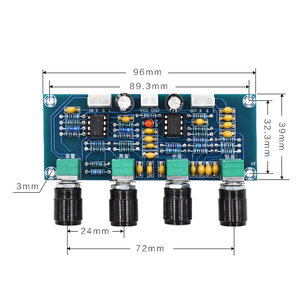 Image 3 - Para amplificadores digitais placa ne5532 tone board preamp pré amp com baixo agudos ajuste de volume pré amplificador tom controlador